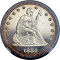 Proof Seated Quarters, 1884 25C PR68 Cameo NGC....
