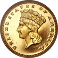 Proof Gold Dollars, 1888 G$1 PR65 Cameo NGC. CAC Gold Label....