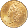 Liberty Double Eagles, 1852 $20 MS64 PCGS Secure. CAC....