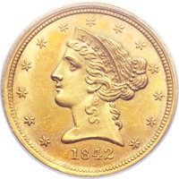 1842-C $5 Small Date MS63+ PCGS Secure. Variety 4-C. ...(PCGS# 8208)