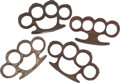 Military & Patriotic:WWI, Lot of Four Vintage Iron Knuckles. ... (Total: 4 Items)