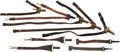 Military & Patriotic:WWI, Large Lot of U.S. Leather Sword and Drum Hangers, Circa1900-1918....