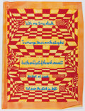 """Books:Prints & Leaves, [Kenneth Patchen]. """"With one tiny stick..."""", ColorSilkscreen Broadside on Hand-Colored Paper. Stamps on verso read..."""