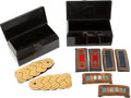 Militaria:Insignia, Lot of U.S. Army Officer's Dress Shoulder Boards and Shoulder Insignia in the Original Japanned Boxes. ... (Total: 2 Items)