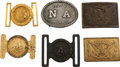 Military & Patriotic:WWI, Six US Military Belt Buckles.... (Total: 6 Items)