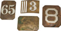 Military & Patriotic:Indian Wars, Group of Four 1870's-1880's National Guard Buckles.... (Total: 4Items)