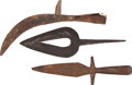 Edged Weapons:Other Edged Weapons, Lot of Three Iron Weapons. ... (Total: 3 Items)