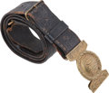 Military & Patriotic:WWI, 19th Century Policeman's Belt and Buckle. ...