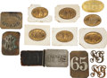 Military & Patriotic:WWI, Lot of Thirteen 19th Century National Guard Belt Plates.... (Total:13 Items)