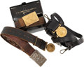 Militaria:Uniforms, Lot of Four U.S. Military Officer's Belts and Buckles.... (Total: 4 Items)