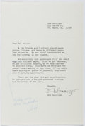 Autographs:Authors, Isaac Asimov (1920-1992, American Writer). Initialed Note. Near fine....