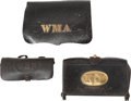 Military & Patriotic:Indian Wars, Group of American Leather Cartridge Boxes.... (Total: 3 )