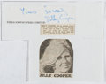 Autographs:Authors, Jilly Cooper (1937- , British Writer). Clipped signature. Verygood....