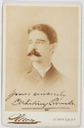 Autographs:Authors, C. Whitney Coombs (1859-1940, American Composer). Signature on Cabinet Card. Very good....