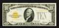 Small Size:Gold Certificates, Fr. 2400 $10 1928 Gold Certificate. Extremely Fine.. ...