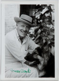 Autographs:Authors, Herman Wouk (1915- , American Writer). Small Signed Photograph.Near fine....