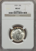 Standing Liberty Quarters: , 1929 25C MS62 NGC. NGC Census: (97/388). PCGS Population (94/602).Mintage: 11,140,000. Numismedia Wsl. Price for problem f...