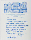 Autographs:Authors, Ray Bradbury (1920-2012, American Science Fiction Writer). Autograph Letter Signed. Includes envelope and letter from the co...