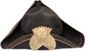 General Historic Events:Expos, Centennial Exposition: Tri-Corner Hat. ...