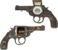 Western Expansion:Cowboy, Western Americana: Iver Johnson Pistol Inkwells.... (Total: 2Items)