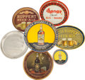 Advertising:Breweriana, Beer & Whiskey Trays: A Colorful Assortment.... (Total: 6 Items)