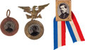 Political:Ferrotypes / Photo Badges (pre-1896), George McClellan: Three Campaign Badges....