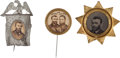 Political:Ferrotypes / Photo Badges (pre-1896), Grant & Colfax: Jugate and Picture Badges....