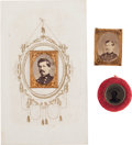 Political:Ferrotypes / Photo Badges (pre-1896), George McClellan: Three 1864 Campaign Badges....