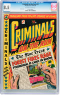 Golden Age (1938-1955):Crime, Criminals on the Run #10 (Novelty Press, 1950) CGC VF+ 8.5 Off-white to white pages....