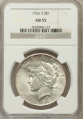 Peace Dollars: , 1926-S $1 AU55 NGC. NGC Census: (99/4755). PCGS Population(211/6208). Mintage: 6,980,000. Numismedia Wsl. Price for proble...