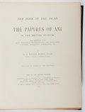 Books:World History, [Ancient Egypt]. E. A. Wallis Budge. The Papyrus of Ani. The Book of the Dead. British Museum, 1895. First editi...
