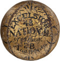 Baseball Collectibles:Balls, 1866 Excelsior vs. National of Albany Trophy Baseball....