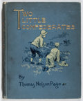 Books:Children's Books, Thomas Nelson Page. Two Little Confederates. Scribner's,1896. Later edition. Original cloth binding. Spine brow...