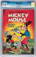 Golden Age (1938-1955):Funny Animal, Four Color #181 Mickey Mouse (Dell, 1948) CGC FN/VF 7.0 Cream tooff-white pages....
