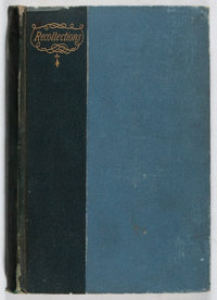 [Civil War]. SIGNED. George W. Childs. Recollections. Lippincott, 1890. First edition. Inscr