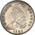 Bust Half Dollars, 1807 50C Capped Bust, Small Stars AU58 NGC. O-113a, R.3....