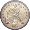 Seated Dollars, 1846 $1 MS61 PCGS....