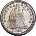 Seated Dimes, 1845 10C MS66 PCGS. Greer-101, Fortin-103....