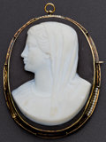 Estate Jewelry:Cameos, Antique Large Hardstone & Black Onyx Cameo. ...