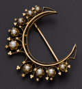 Estate Jewelry:Brooches - Pins, Vintage Gold & Pearl Brooch. ...