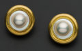 Estate Jewelry:Earrings, Fine Ming's 18k Gold Blister Earrings. ...