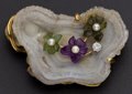 Estate Jewelry:Brooches - Pins, Exquisite Custom Rock Crystal Diamond & Pearl Brooch. ...