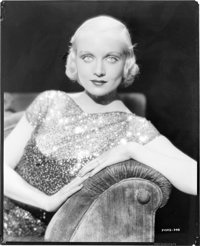 "Carole Lombard (Paramount, early 1930s). AGFA Nitrate Negative (7.75"" X 9.75""). Miscellaneous"