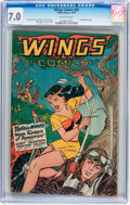 Golden Age (1938-1955):Adventure, Wings Comics #86 (Fiction House, 1947) CGC FN/VF 7.0 Off-whitepages....