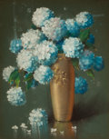 Latin American:Contemporary, ALFREDO RAMOS MARTÍNEZ (Mexican, 1872-1946). Still Life withHydrangeas, 1917. Pastel on paper . 36-3/4 x 28-1/2 inches ...