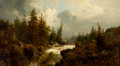 Fine Art - Painting, American, CONTINENTAL SCHOOL (Late 19th/Early 20th Century). RiverView. Oil on canvas. 38 x 21 inches (96.5 x 53.3 cm). ...