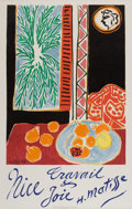 Prints:European Modern, HENRI MATISSE (French, 1869-1954). Nice: travail et joie,1947. Color lithograph. 39-3/8 x 24-3/4 inches (100.1 x 63.0 c...