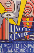 Prints:Contemporary, ROY LICHTENSTEIN (American, 1923-1997). Lincoln Center FilmFestival, 1966. Color offset lithograph. 44-7/8 x 29-5/8 inc...