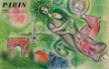Prints:European Modern, MARC CHAGALL (Belorussian, 1887-1985). Paris: L'Opera, 1965.Color lithographic poster. 24-3/4 x 39 inches (62.9 x 99.1 ...
