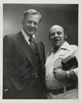 Autographs:Celebrities, Inscribed Photograph from Unknown Personality to Ted Gunderson,Former Head of the FBI in Los Angeles. Approx. 8 x 10 inches...